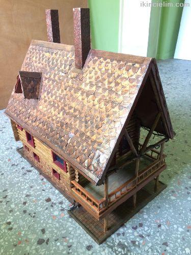 Ahşap el emeği göz nuru minyatür ev