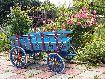 Dekoratif Maket At Arabası, Mavi, Çiçekli