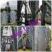 Çeşitli kapasitelerde komple silo bataryaları, un