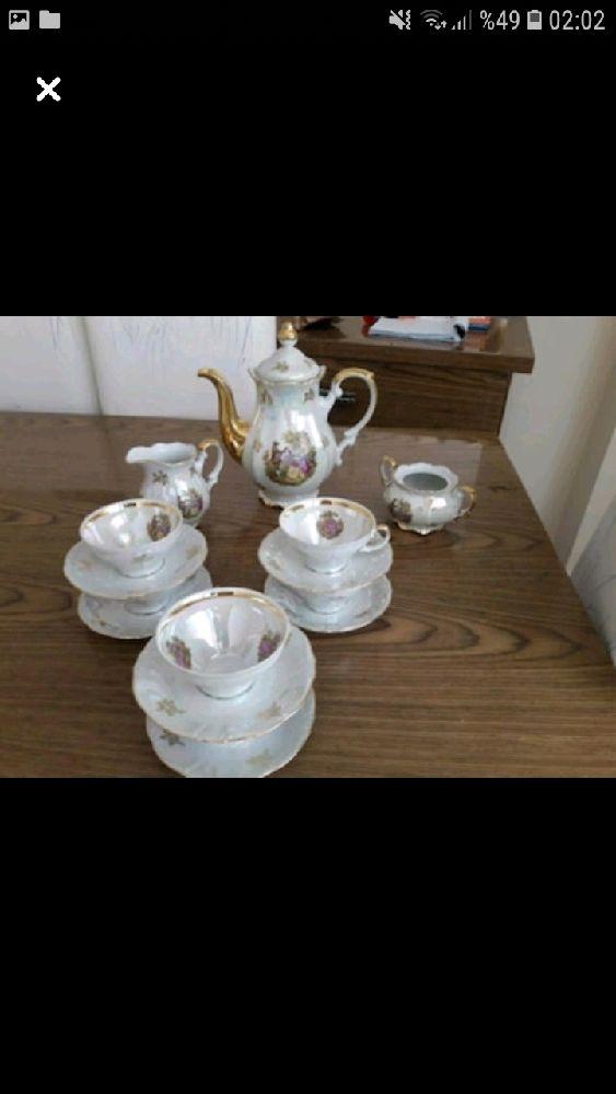 Demlik, Çaydanlık Bohem çay seti Satılık Antika çay seti