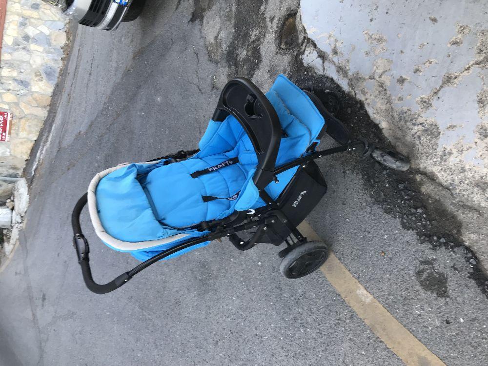 Bebek Arabası Satılık Tertemiz Çift Yönlü Kraft Cross Travel Bebek Araba