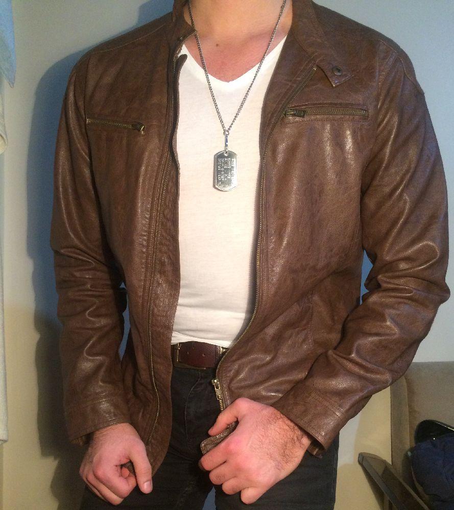 Erkek Ceket Koton Satılık Kahve deri ceket