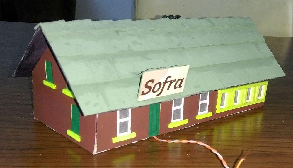 Diger Maket ve Modeller El Yapımı Maket Bina Satılık 1/87 Ho Sofra Restaurant (Işıklı)