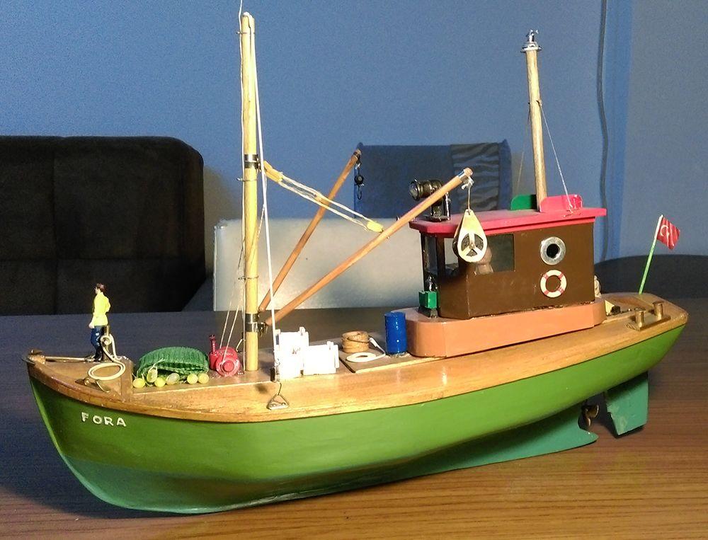 Uzaktan Kumandalı Modeller Satılık El Yapımı Rc Yüzer Model Balıkçı Teknesi - Fora