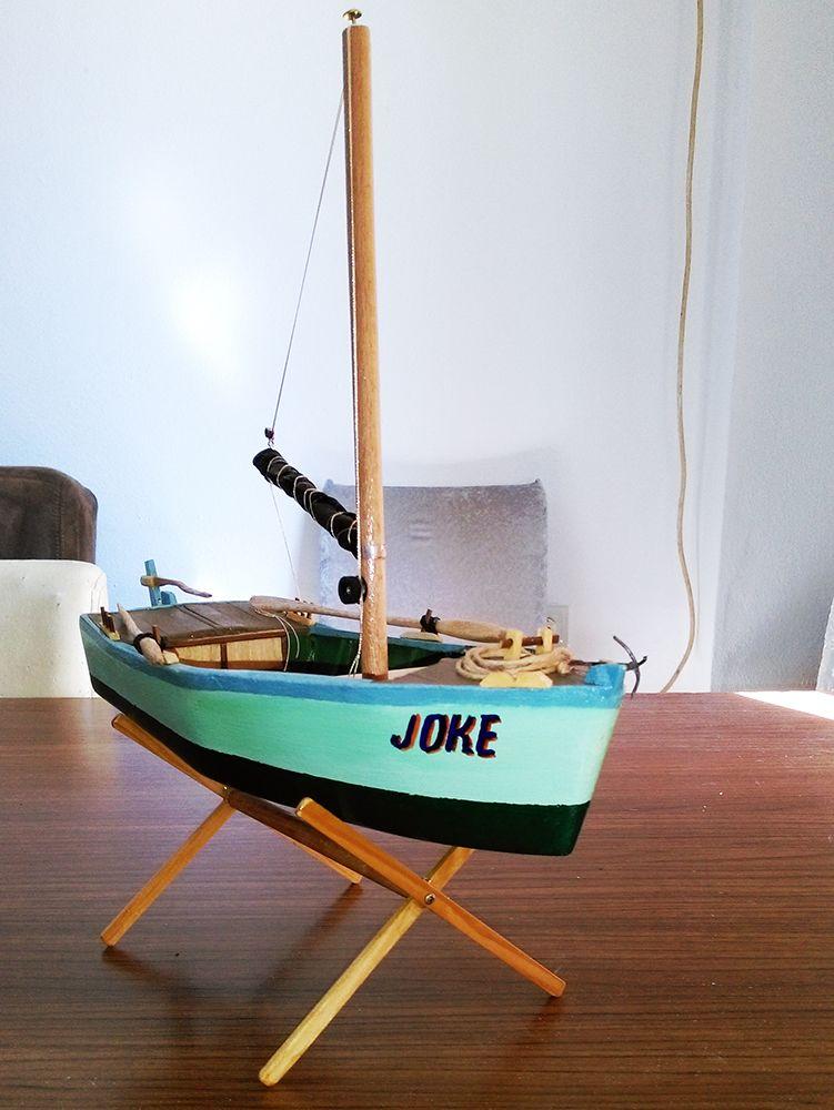 Gemi Maketleri Biblo Tekne Satılık El yapımı Biblo Yelkenli Tekne - Joke