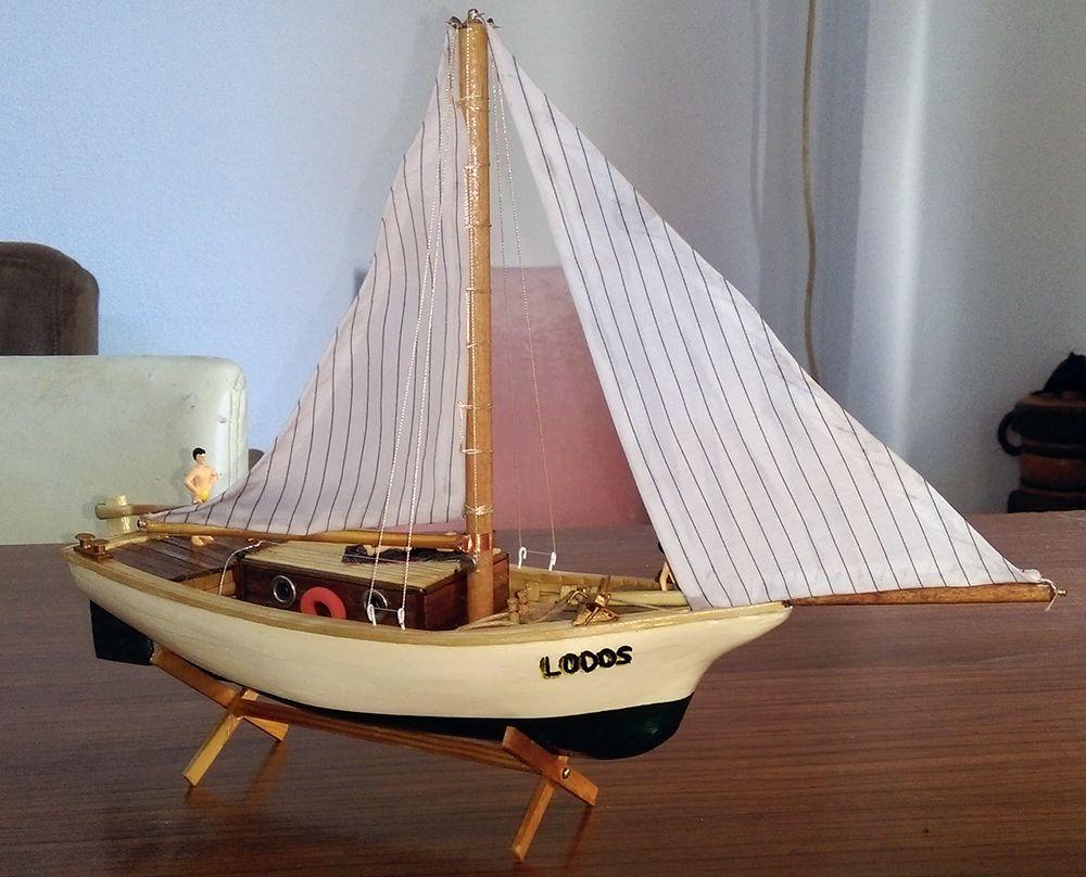 Gemi Maketleri Biblo Tekne Satılık El yapımı Biblo Yelkenli Yat - Lodos