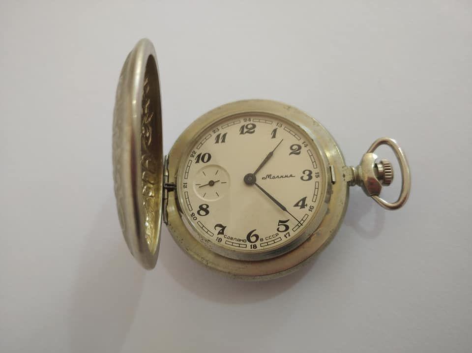 Cep Saati, Köstekli saat Satılık Antika Kusursuz Kadran Molnija Cep Saati. Sorunsuz