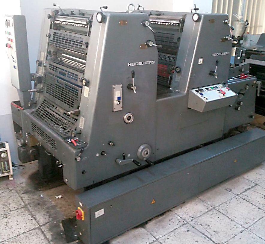 Baskı Makinaları Heidelberg Heidelber Gto Satılık Sorunsuz İki Renkli Ofset Baskı Makinası