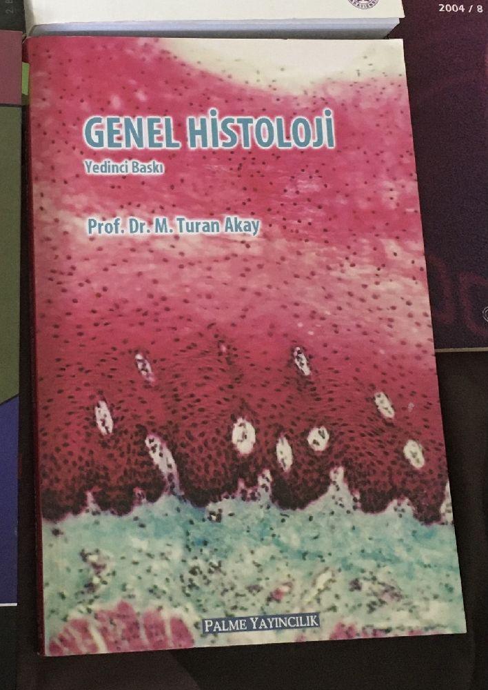 Biyoloji Kitapları Satılık Genel Histoloji prof. Dr. M. Turan Akay