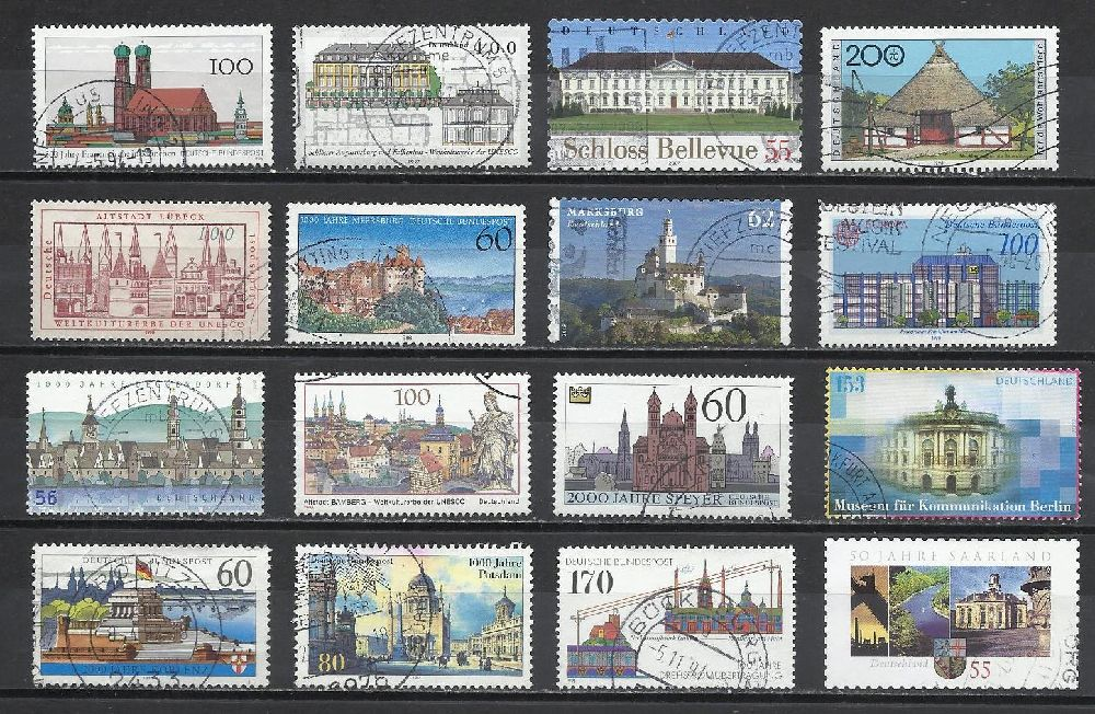 Pullar Satılık Damgalı Almanya Hatıra Pulları Lotu 21