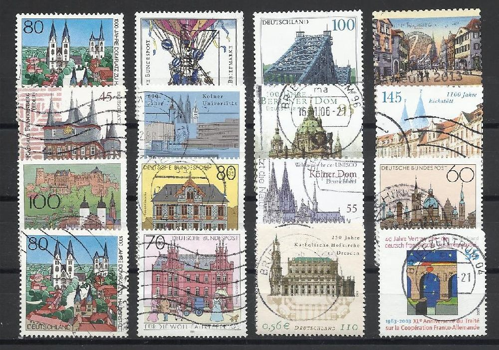 Pullar Satılık Damgalı Almanya Hatıra Pulları Lotu 33