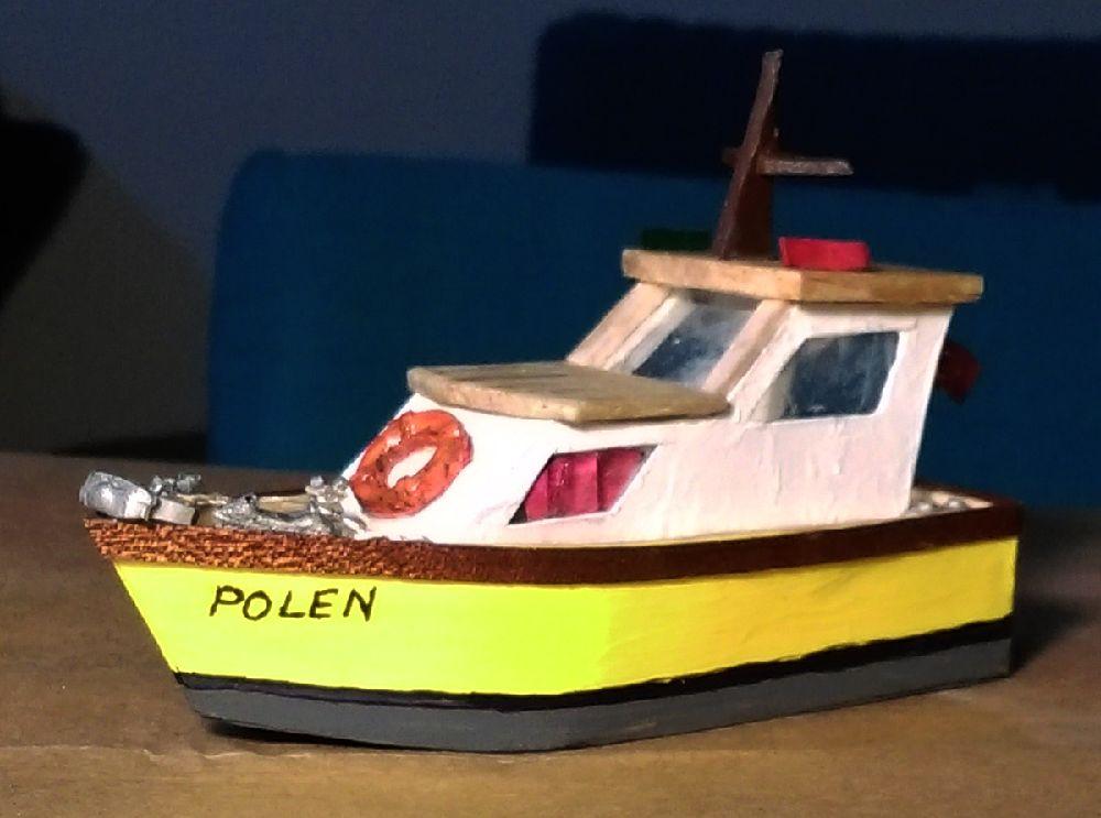 Gemi Maketleri El Yapımı Model Tekne Satılık 1/87 Ho Polen Motoryat