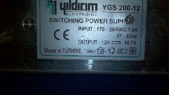 Smps 12V -16 Amp Güç Kaynağı