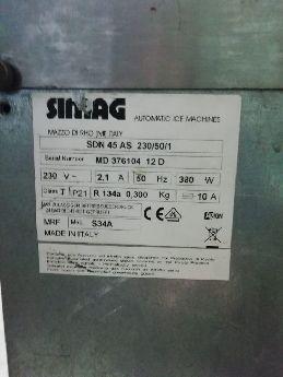 Sımag İtalyan Buz Makinesı Sdn45 47kg/günde2150 Ad