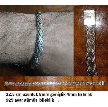 Erkek 925 ayar gümüş bileklik