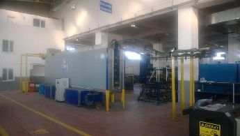 Konveyörlü sprey yıkama robot boya toz boya tesisi