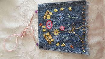Kot Kumaştan Küçük Prensesler Icın Çanta Aksesuar
