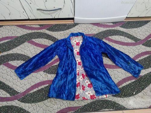 135 yıllık mükemmel ipek saten dokuma mavi kök boy
