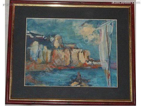 Ressamı tespit edilememiş, karton üzeri yağlı boya