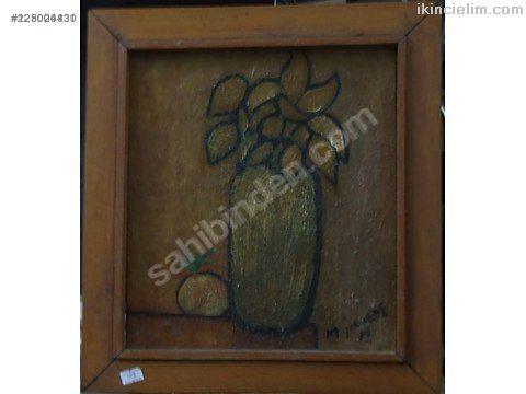 M. yener imzalı tual üzeri yağlı boya ilk eserlerı