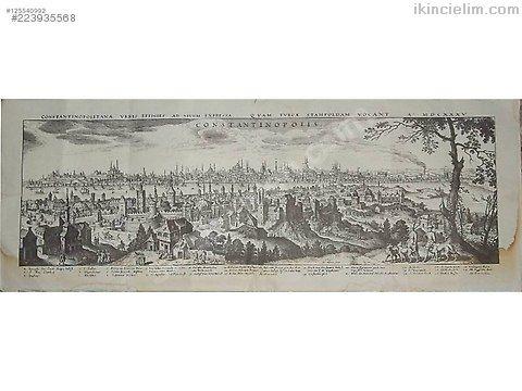 1600 lü yıllara ait istanbul gravürü