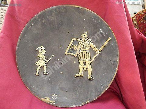 Heykel-  bıronz levha üzerıne savaşçı heykel