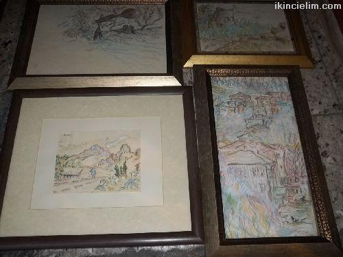 Tablo-Numan Pura'ya ait 4 farklı eserleri