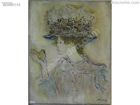 Türkan imzalı tual üzeri yağlı boya tablo