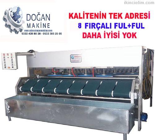 8 fırçalı ful otomatik halı yıkama makinası