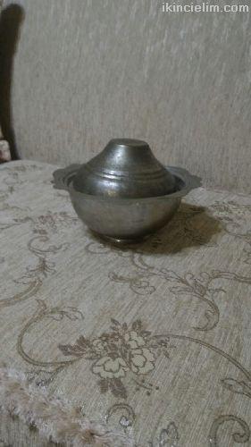 Antıka Bakır Tas-Tabak-Vazo