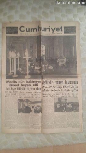 Mustafa Kemal Atatürk'ün Ölüm Haberleri