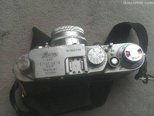 Antika Leica fotoğraf makinesi+summitar f2,1953