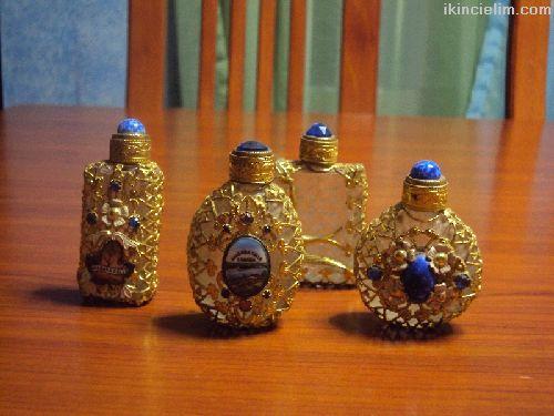Paris'ten Antik Parfüm Şişeleri-Flacon