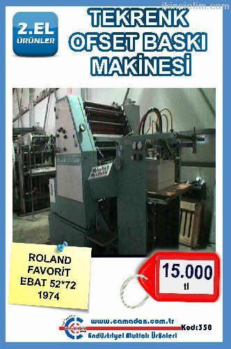Tekrenk Ofset Baskı Makinesi Roland Favorit Ebat 5
