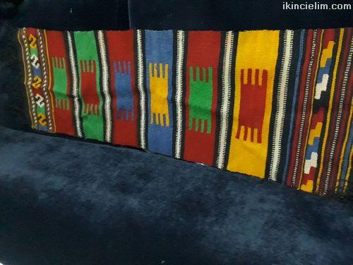 80 yıllık el dokuma kök boya antika kilim