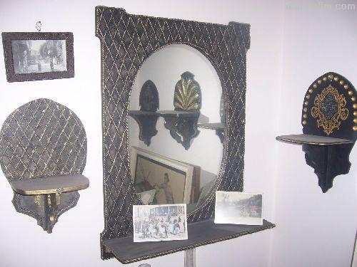 Ayna el yapımı eskitme