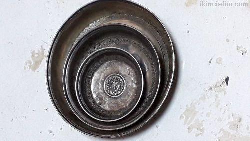 Gümüş kına tabaklarl