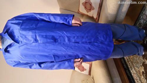 Sıfır Erkek Alpaka İş Gömleği, Saks Mavi.