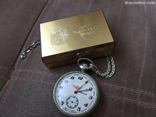 Serkisof Antika Kurmalı Köstekli 18Rubis Cep saati