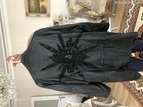Orjinal 90lar vatkalı deri ceket