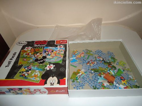 Disney Trefl Puzzle 3+1 Mickey Mouse & Friends