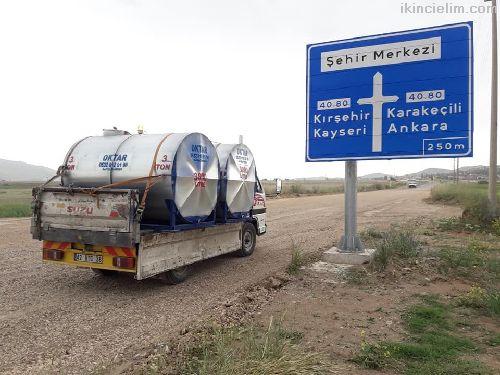İçme Su Tankı Su Deposu 3 Ton Galvaniz Paslanmaz
