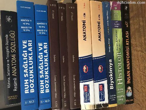 Satılık az kullanılmış orjinal tıp kitapları