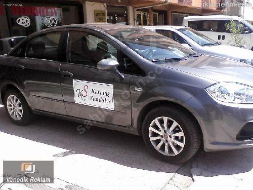 Firma Reklam Baskılı Araç Kapılarına Magnet