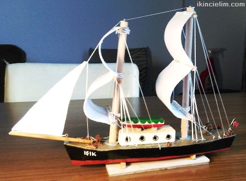 El yapımı Biblo Yelkenli Tekne - Işık