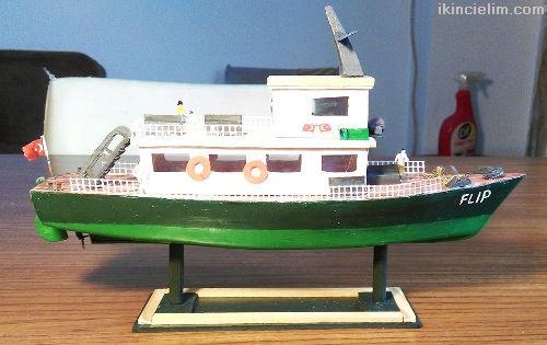 El yapımı Biblo Yolcu Teknesi - Flıp