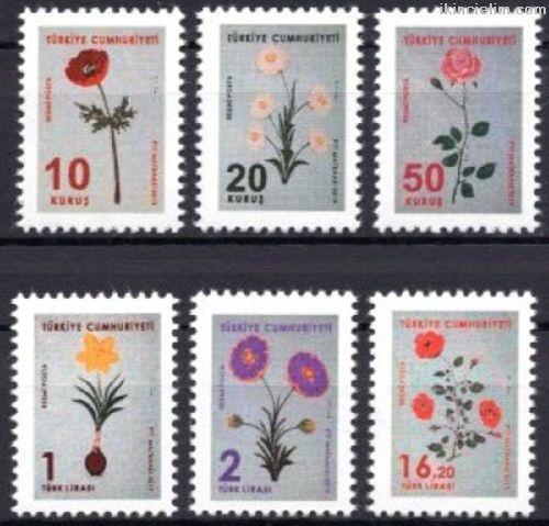 2019 Damgasız Çiçekler (Ebru) Konulu Resmi Posta P