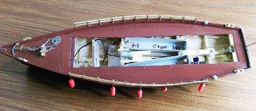 El Yapımı Rc Yüzer Model Servis Teknesi-Karabatak