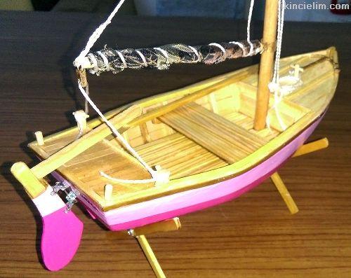 El yapımı Biblo Yelkenli Optimist Teknesi-Flamingo