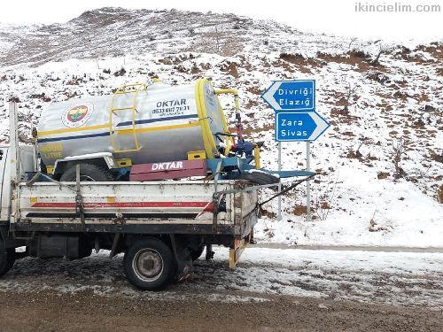 Traktör Mili Hareketli pompalı Su Tankeri 4 Ton